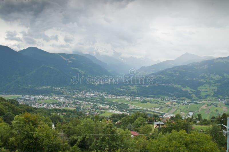 De vallei van Passy (Chamonix, Frankrijk) stock afbeelding