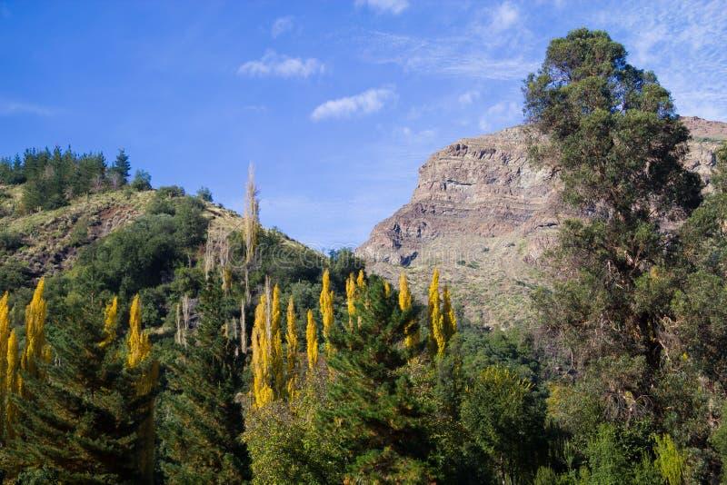 De vallei van San Alfonso, Sleep in de Berg stock afbeelding