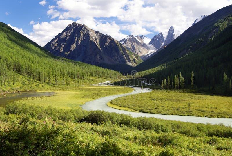 De vallei van Savlo stock foto