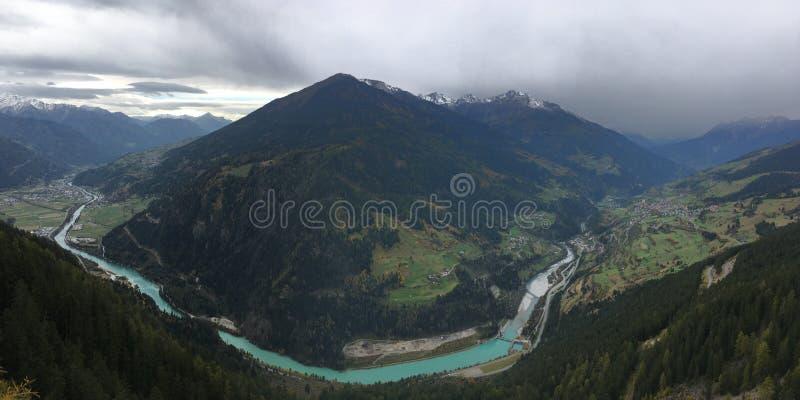 De Vallei van Tirol stock foto