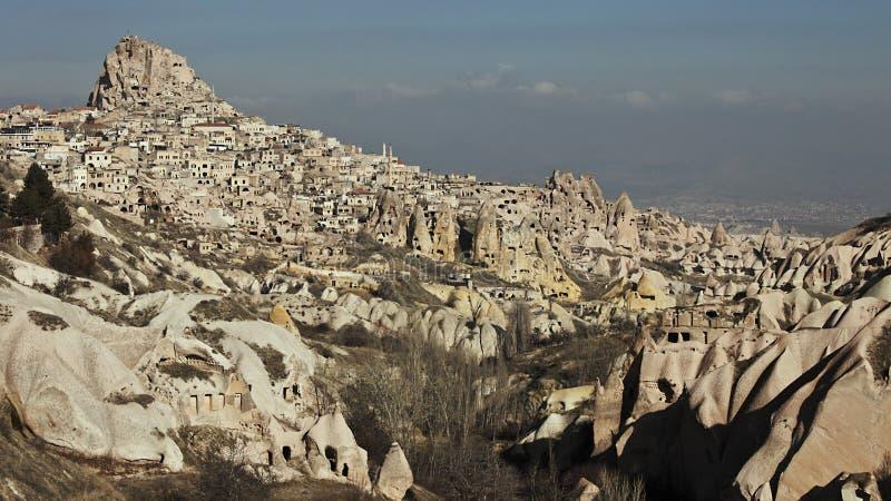 De Vallei van Uchisar en van de Duif royalty-vrije stock afbeeldingen