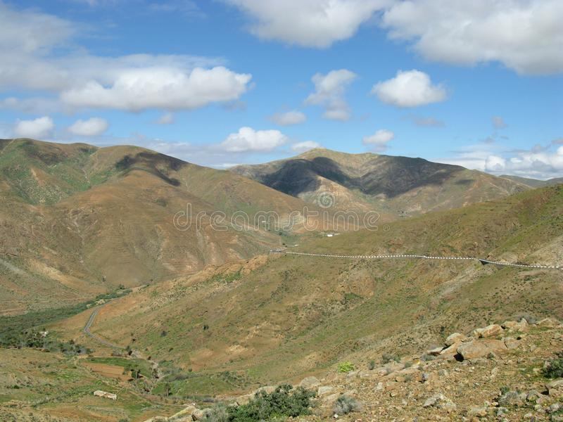De vallei van Vega DE Rio Palmas op Fuerteventura stock foto