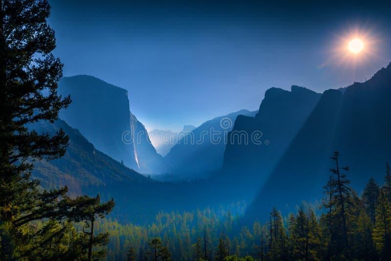 De Vallei van Yosemite, Nationaal Park Yosemite royalty-vrije stock foto's