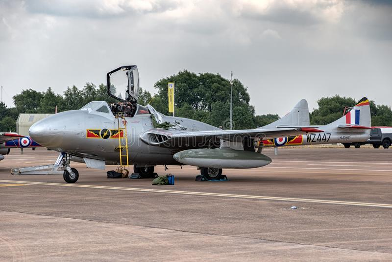 De Vampier Mk van de Havilland DH115 55 royalty-vrije stock foto