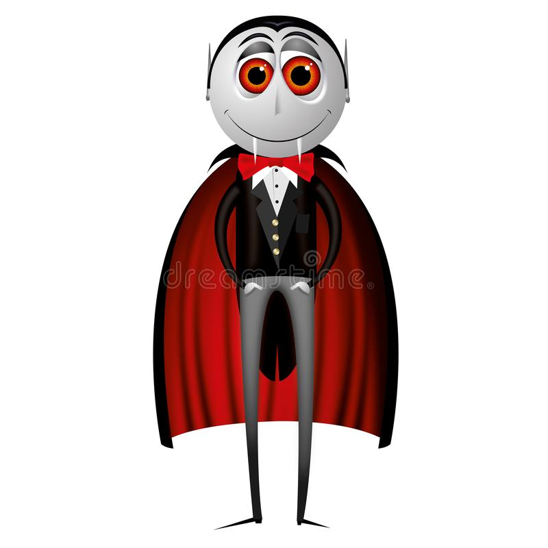 De vampier van tellingsdracula - Halloween-illustratie stock illustratie