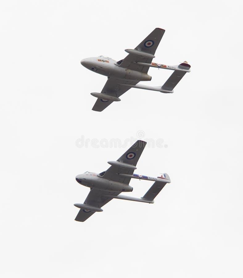 De vampierstralen bij lucht tonen stock fotografie