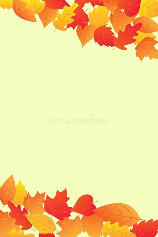 De van de de achtergrond herfstverkoop lay-out verfraait stock illustratie