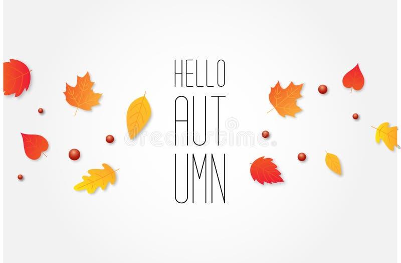 De van de de achtergrond herfstverkoop lay-out verfraait met bladeren voor het winkelen vector illustratie