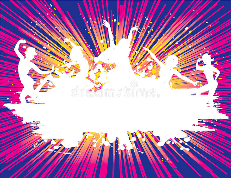 De van de Achtergrond vlieger van de partij vectorDisco van de Illustratie stock illustratie
