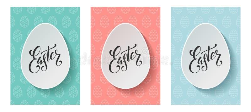 De van letters voorziende brochures van Pasen stock foto