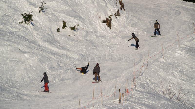 De Vancouver Canada AVANT JÉSUS CHRIST, décembre 5,2017 ski à la montagne de grouse, Canada de Vancouver photo libre de droits