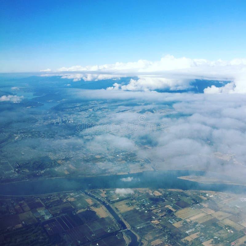 De Vancouver opinión aérea A.C. foto de archivo
