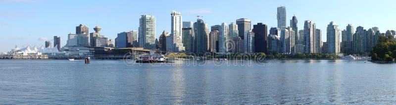 De Vancouver panorama d'horizon BC, Canada. images libres de droits