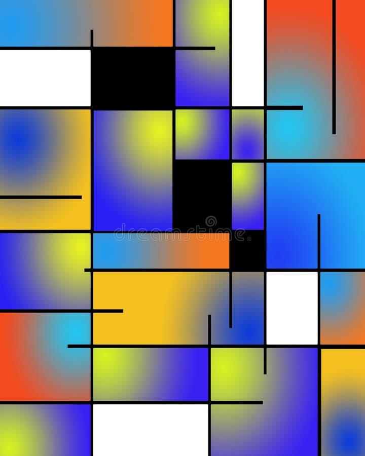 De Variatie van Mondrian stock illustratie
