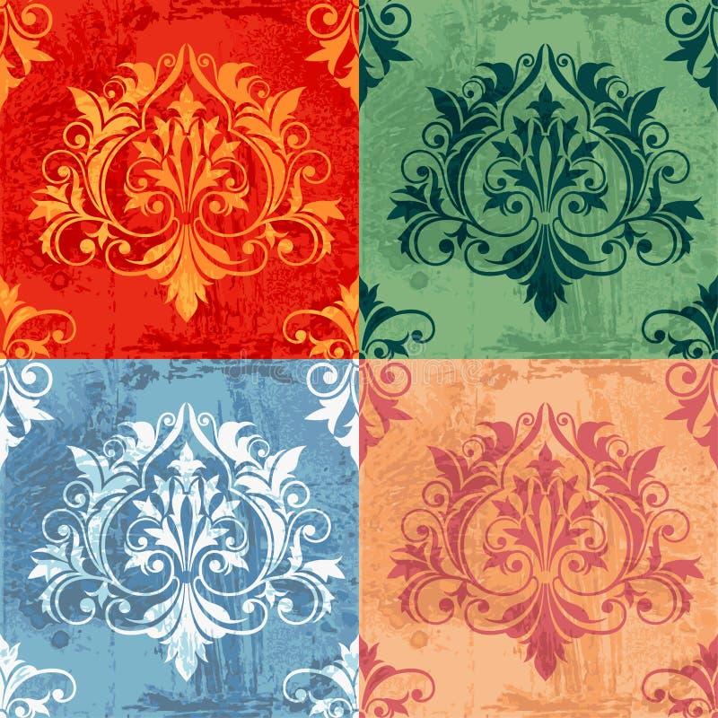 De Variaties van de kleur van de Klassieke Elementen van het Decor stock illustratie
