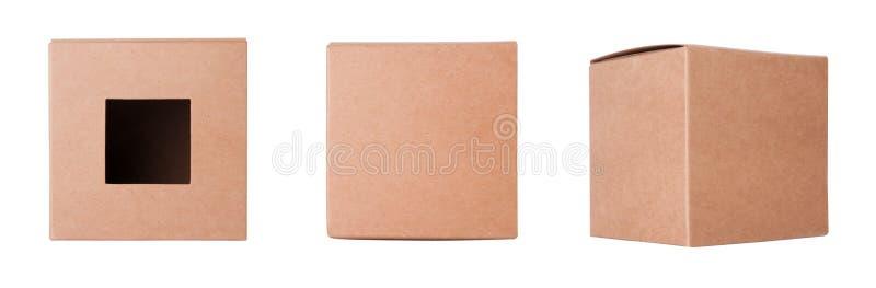 De vastgestelde doos van het Karton stock foto's