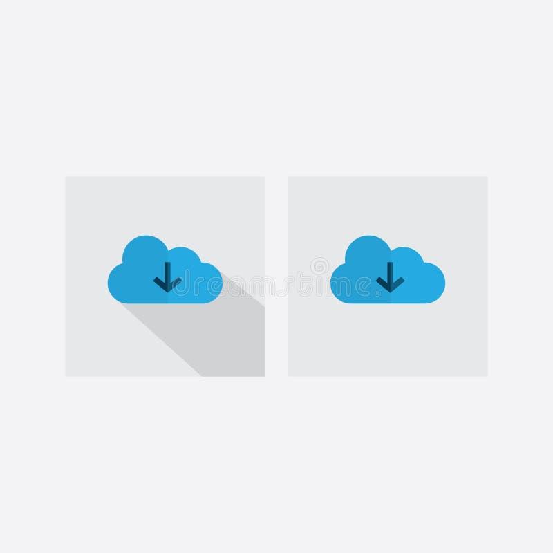 De vastgestelde download van de pictogramwolk vector illustratie