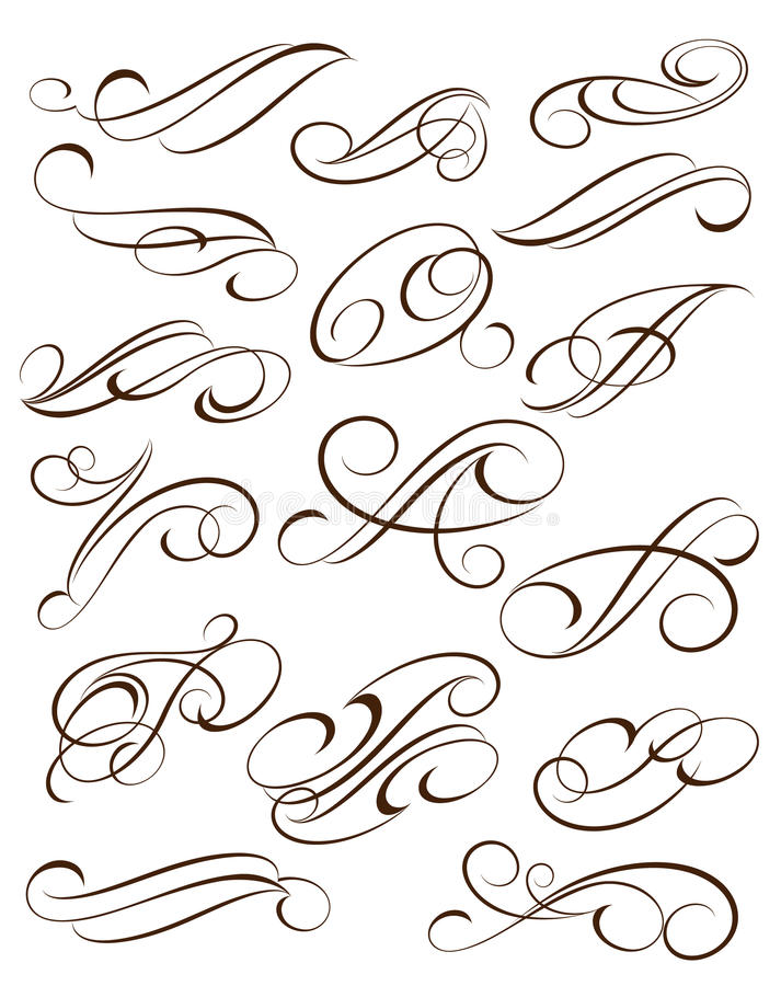 De vastgestelde elementen van het Ontwerp Bruin wit Vector royalty-vrije illustratie