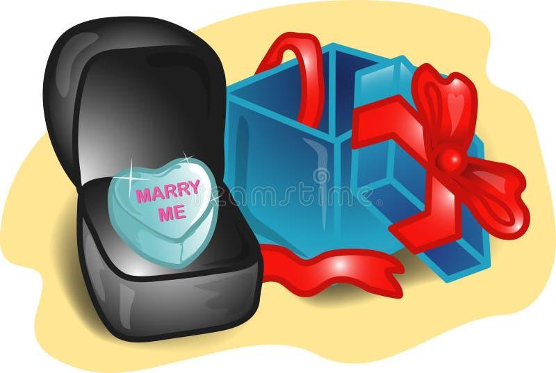 De vastgestelde illustratie van de valentijnskaart stock illustratie