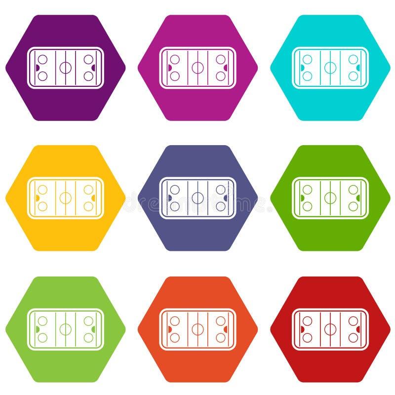 Download De Vastgestelde Kleur Van Het Stadionpictogram Hexahedron Vector Illustratie - Illustratie bestaande uit hand, speelplaats: 107708143