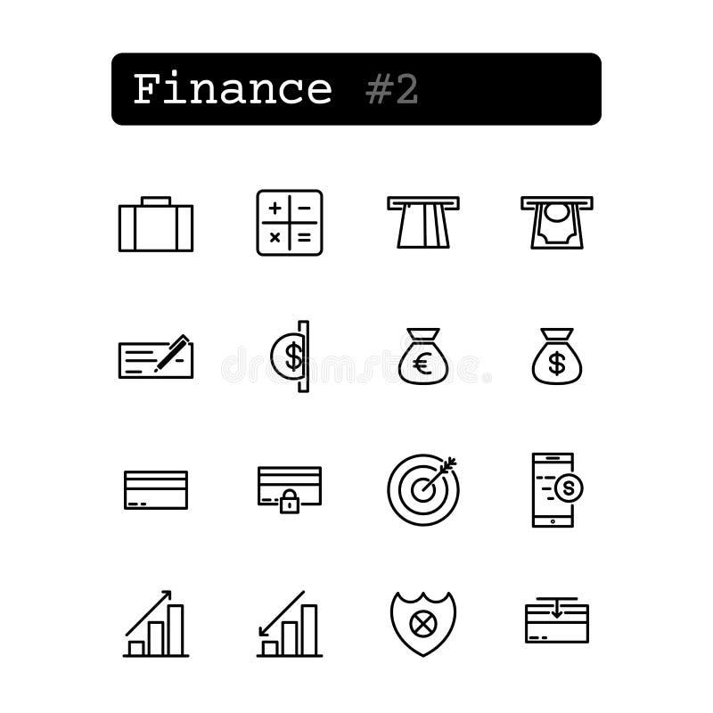De vastgestelde lijn verdunt pictogrammen stock illustratie