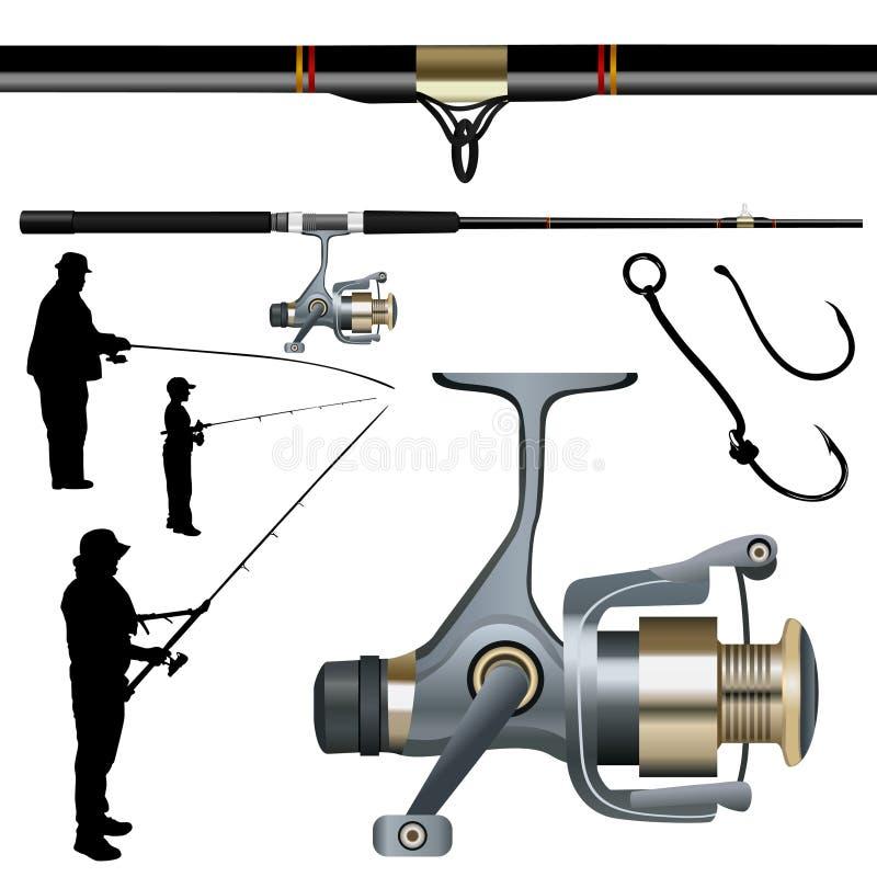 De vastgestelde vector van de visserij vector illustratie