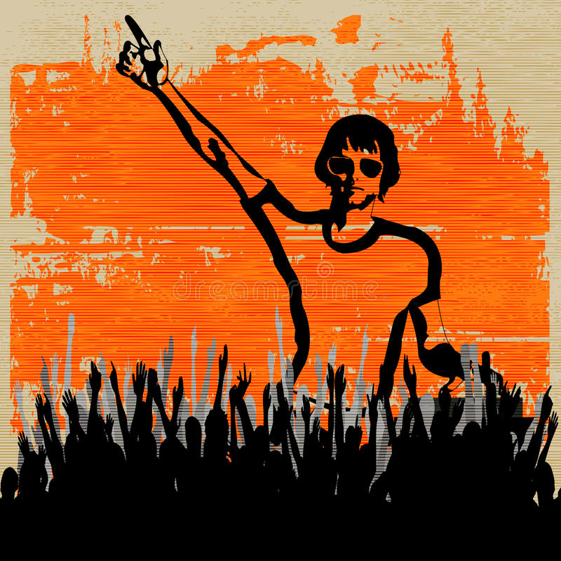 De Vastgestelde Vlieger van DJ van Indie stock illustratie