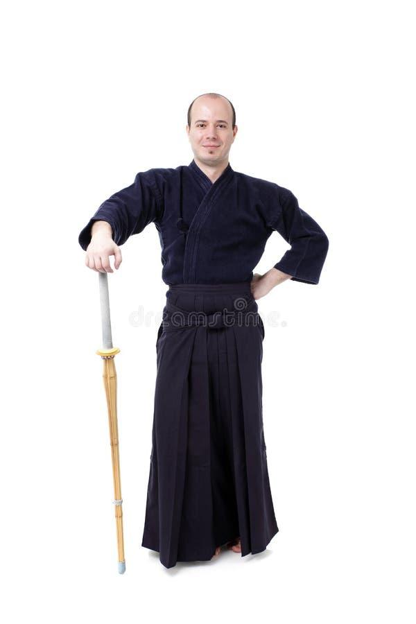 De vechter van Kendo royalty-vrije stock fotografie