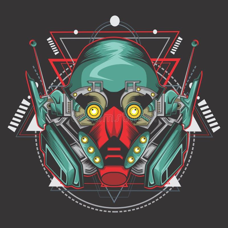 De vechter van de moordenaarsrobot royalty-vrije illustratie