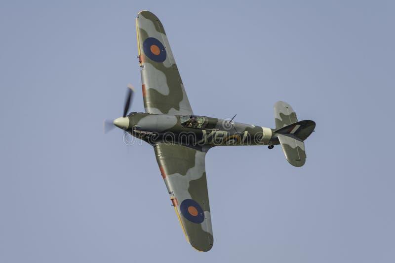 De vechtersvliegtuig van venterHurricane stock afbeeldingen