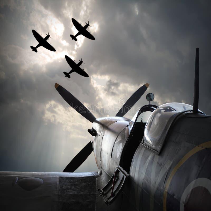De Vechtersvliegtuigen royalty-vrije stock foto
