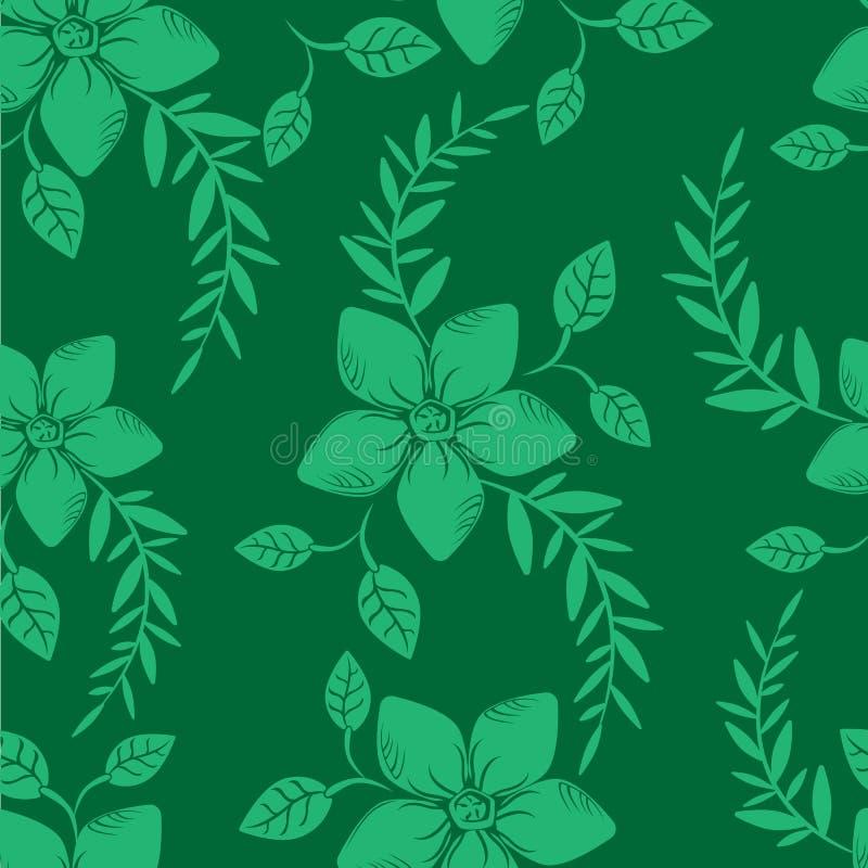 De vector abstracte achtergrond bloeit naadloos patroon royalty-vrije stock afbeelding