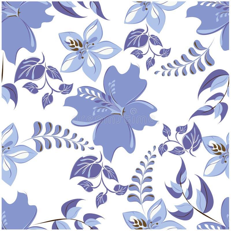 De vector abstracte achtergrond bloeit naadloos patroon stock foto