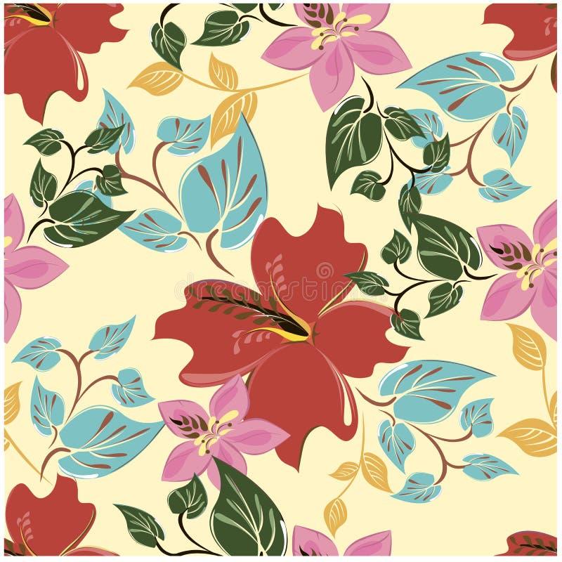 De vector abstracte achtergrond bloeit naadloos patroon royalty-vrije stock fotografie