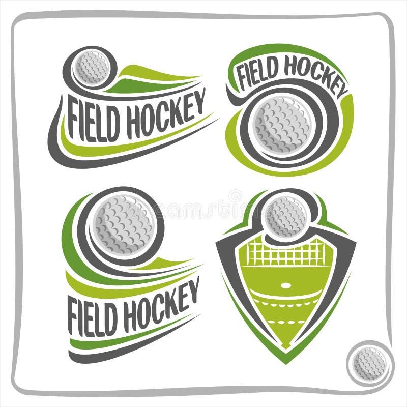 De vector abstracte Bal van het embleemhockey vector illustratie