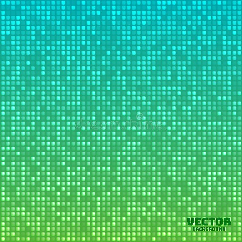 De vector abstracte heldere blauwgroene achtergrond van de mozaïekgradiënt vector illustratie