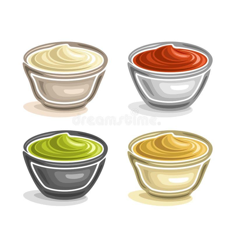 De vector abstracte kom van de embleem ceramische onderdompeling royalty-vrije illustratie