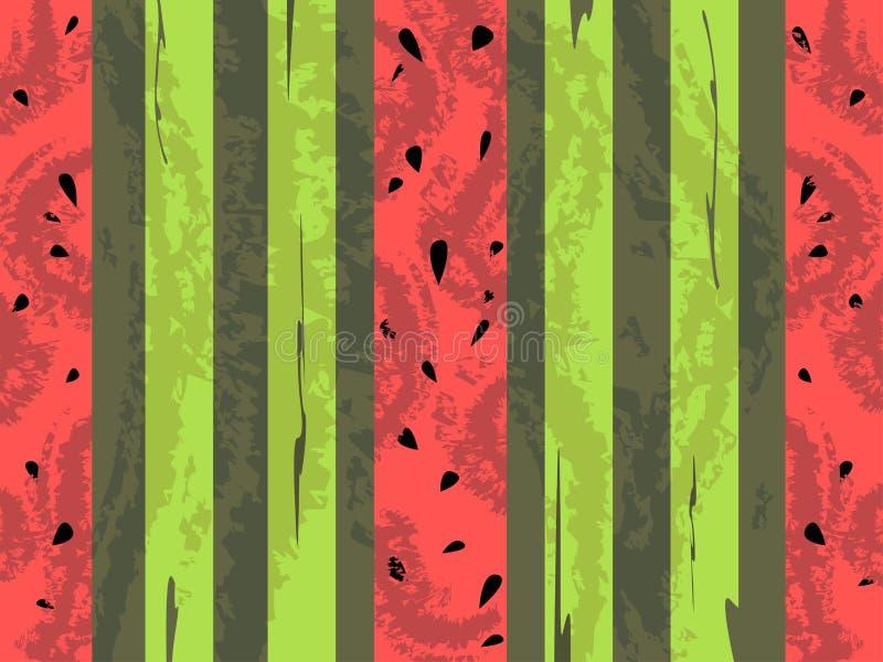 De vector achtergrond van de grungewatermeloen vector illustratie