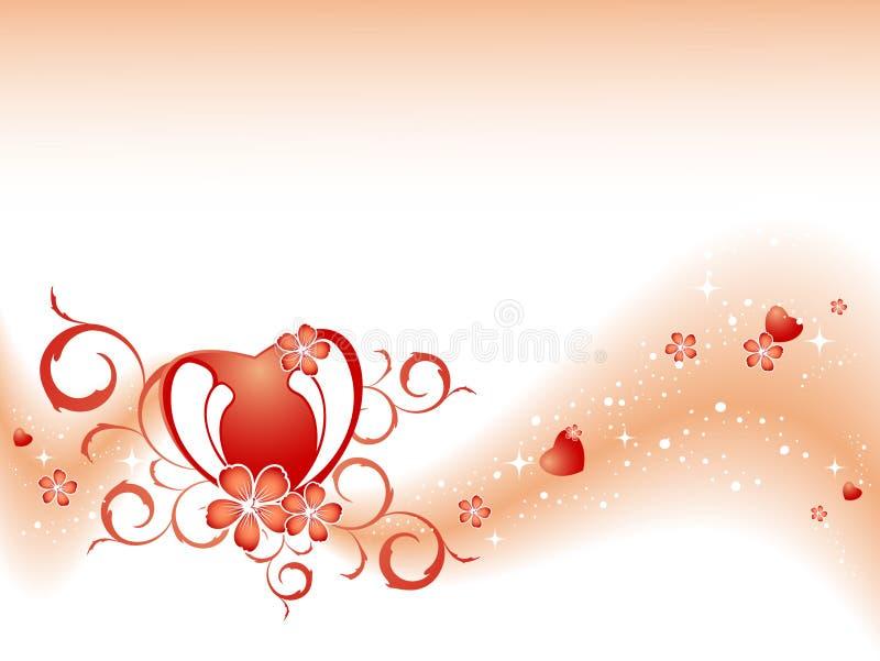 De vector achtergrond van de Valentijnskaart vector illustratie