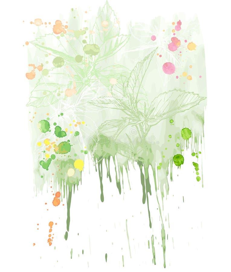 De vector Achtergrond van de Waterverf royalty-vrije illustratie
