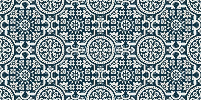 De vector achtergrond van het damast naadloze patroon De elegante luxetextuur voor behang, de achtergronden en de pagina vullen H vector illustratie