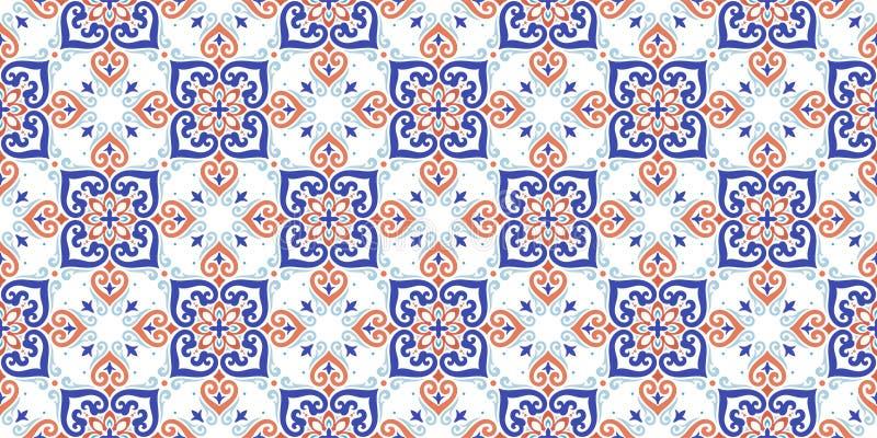 De vector achtergrond van het damast naadloze patroon De elegante luxetextuur voor behang, de achtergronden en de pagina vullen H royalty-vrije illustratie