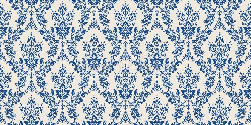 De vector achtergrond van het damast naadloze patroon De elegante luxetextuur voor behang, de achtergronden en de pagina vullen b vector illustratie