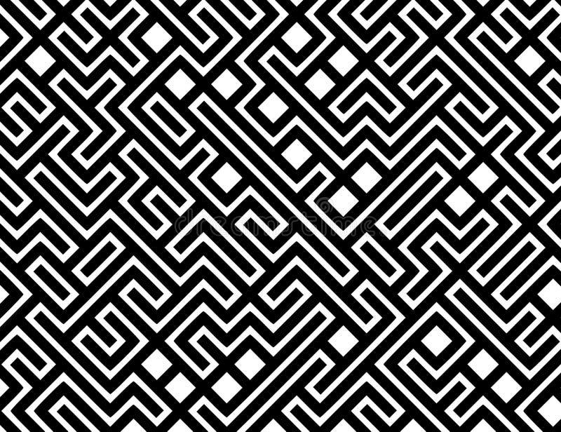 De Vector Achtergrond Van Het Patroon Van Het Labyrint Royalty-vrije Stock Foto's