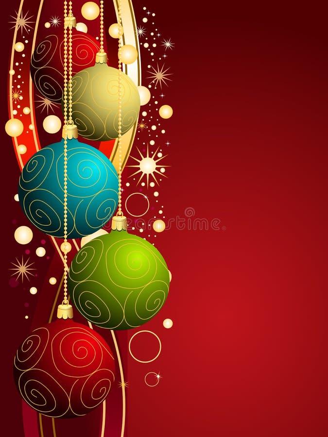 De vector achtergrond van Kerstmis royalty-vrije stock foto's
