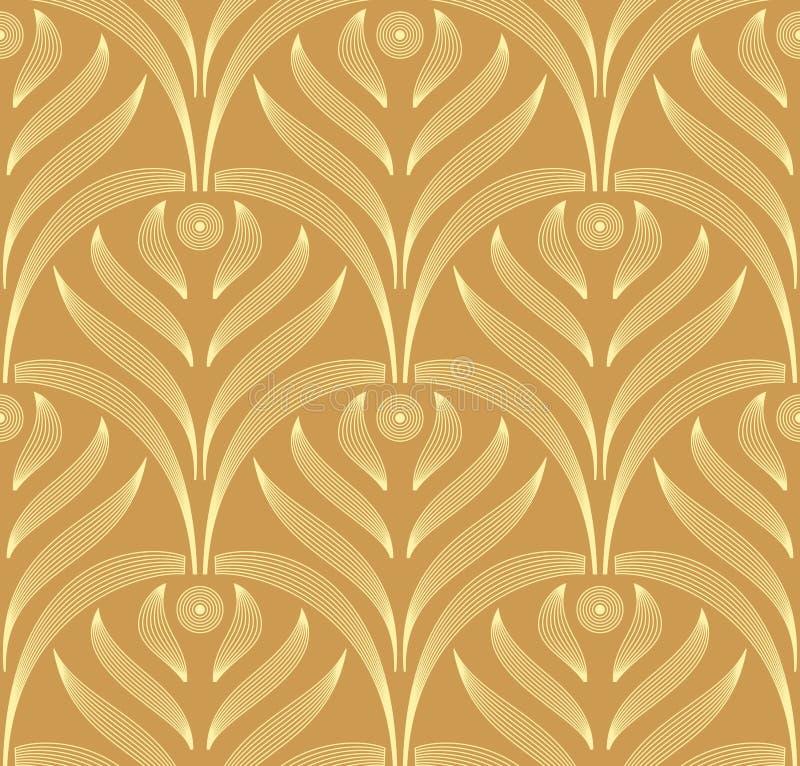 De vector bladeren sieren naadloos patroon vector illustratie