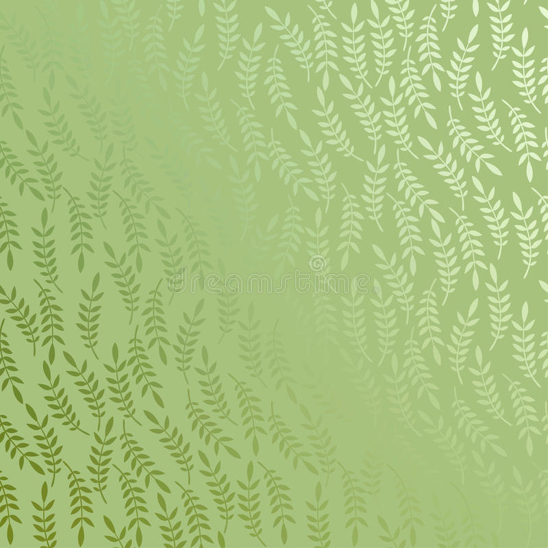 De vector bloemenachtergrond met doorbladert vector illustratie