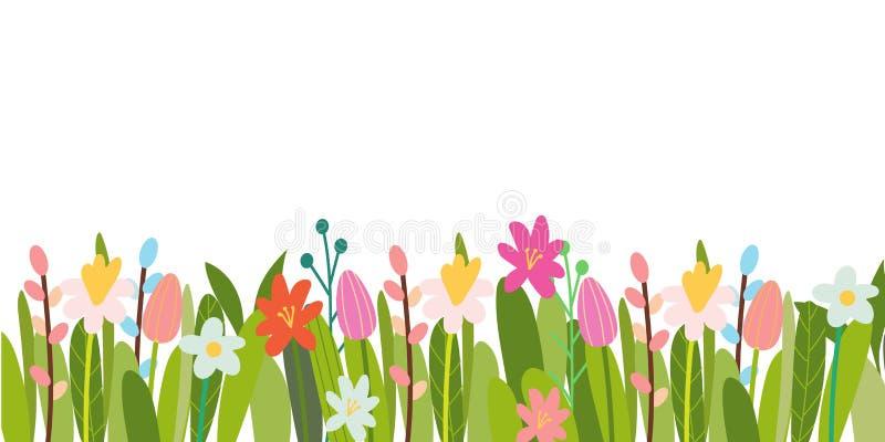 De vector bloemenachtergrond van Pasen vector illustratie