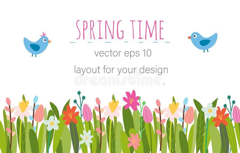 De vector bloemenachtergrond van Pasen royalty-vrije illustratie