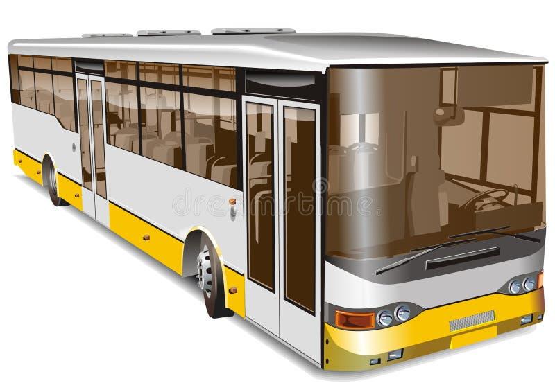 De vector bus van de illustratiestad stock illustratie